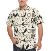 The Foundry Big & Tall Supply Co.™ Short-Sleeve Printed Woven Shirt