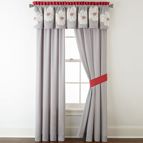 Home Expressions™ Julia 2-pk. Rod-Pocket Curtain Panels