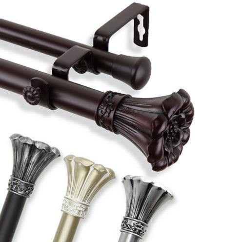 "Rod Desyne Blossom 1"" Adjustable Curtain Rod Collection"