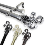 "Plume 1"" Adjustable Curtain Rod Collection"