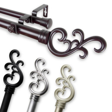 "jcpenney.com | Rod Desyne Madeline 1"" Adjustable Curtain Rod Collection"