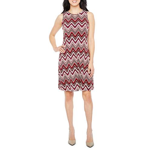 Ronni Nicole Sleeveless Puff Print Shift Dress