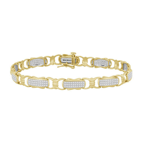 Womens 3/4 CT. T.W. White Diamond 10K Gold Tennis Bracelet