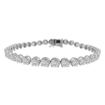 Fine Jewelry Womens 2 CT. T.W. White Diamond 14K Gold Tennis Bracelet s1Tlz0