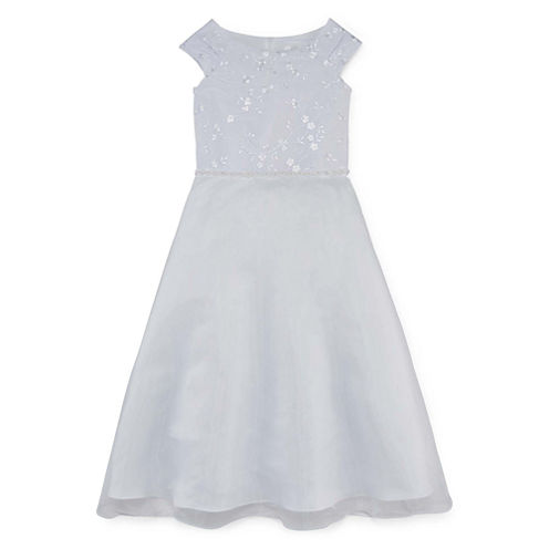 Lavender By Us Angels Communion Dress Short Sleeve Party Dress