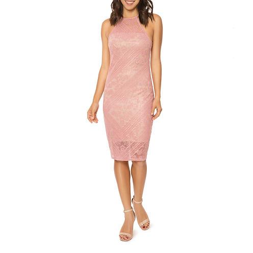 T.D.C Halter Neck Burnout Bodycon Dress