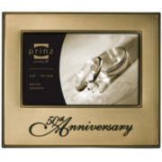 "Timeless Love 50th Anniversary Metal 4x6"" Picture Frame"
