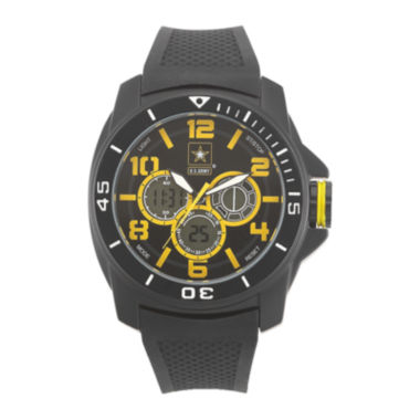jcpenney.com | Wrist Armor® C24 Mens US Army Rubber Strap Chronograph Watch