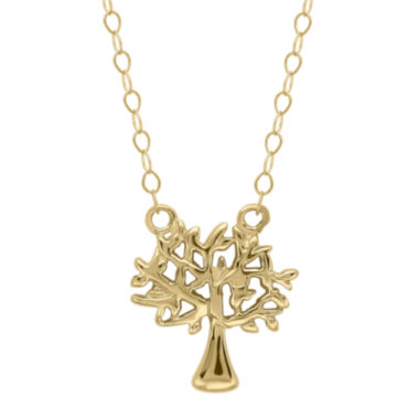 jcpenney.com | Teeny Tiny® 14K Yellow Gold Petite Family Tree Pendant Necklace