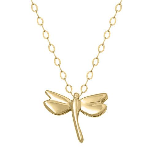 Teeny Tiny® 14K Yellow Gold Petite Dragonfly Pendant Necklace