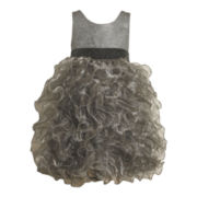 Bonnie Jean Silver Tier Dress - Girls 2t-6