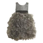 Bonnie Jean Silver Tier Dress - Girls 2t-6