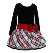 Bonnie Jean Red Plaid Dress - Girls 2t-6