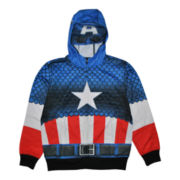 Captain America Costume Fleece Hoodie - Boys 8-20