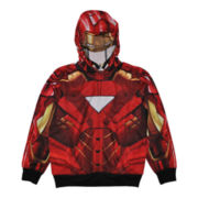 Iron Man Costume Full-Zip Fleece Hoodie - Boys 6-16