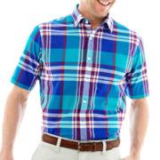 Dockers® Short-Sleeve Madras Plaid Shirt
