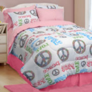 Peace and Love Comforter Set