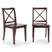 Dining Possibilities Set of 2 Standard X-Back Chairs