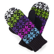 Isotoner® Knit Mittens with Mircroluxe Lining