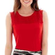 Liz Claiborne® Crochet Tank Top - Tall
