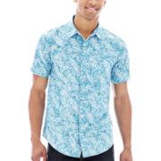 Short-Sleeve Field-Print Woven Shirt