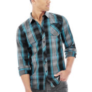 Zoo York® Mercury Plaid Long-Sleeve Woven Shirt