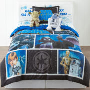 Star Wars Twin/Full Reversible Comforter + BONUS Sham Collection