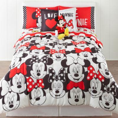Disney® Minnie Mouse Who Am I Twin/Full Reversible Comforter + BONUS Sham