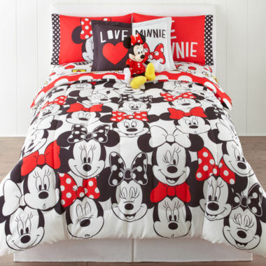 jcpenney.com | Disney® Minnie Mouse Who Am I Twin/Full Reversible Comforter + BONUS Sham Collection