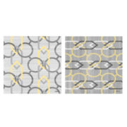 Yellow and Gray Links Canvas Wall Art Collection