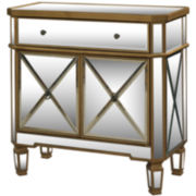 Zara Mirrored 2-Door Console Table