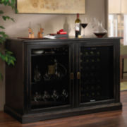 Wine Enthusiast® Siena Mezzo Wine Credenza with 28-Bottle Wine Refrigerator