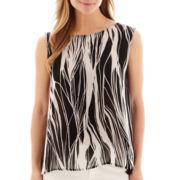 Liz Claiborne® Abstract Print Tank Top - Tall