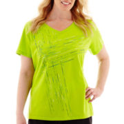 Made For Life™ Short-Sleeve Sporty Graphic T-Shirt - Plus