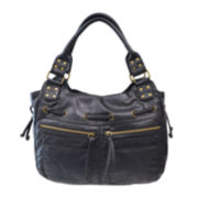 Bueno Pearlized Washed Double Shoulder Bag