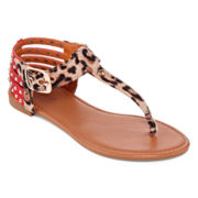 Bamboo Candice-25M Studded Thong Sandals