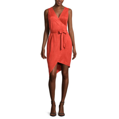 jcpenney.com | Bisou Bisou® Sleeveless Sueded Wrap Dress