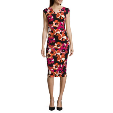 jcpenney.com | Weslee Rose Cap-Sleeve Printed Bodycon Dress