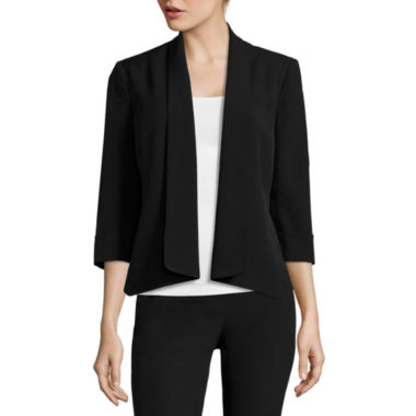 jcpenney.com | Black Label by Evan-Picone 3/4-Sleeve Open-Front Jacket