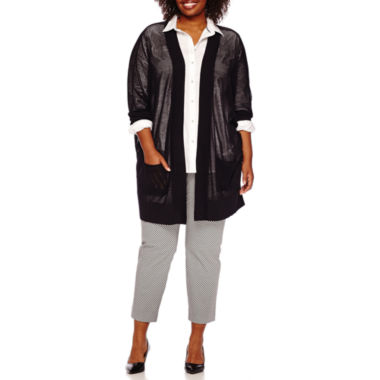 jcpenney.com | Stylus™ Oversized Tunic, Elbow-Sleeve Cardigan or Crossover Ankle Pants - Plus