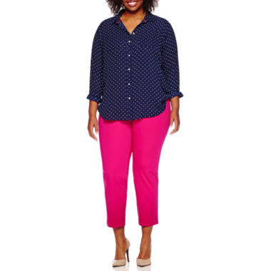 jcpenney.com | Stylus™ Oversized Tunic or Crossover Ankle Pants - Plus