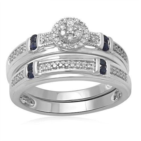 1/5 Ct. T.W. Diamond 10K White Gold Bridal Set