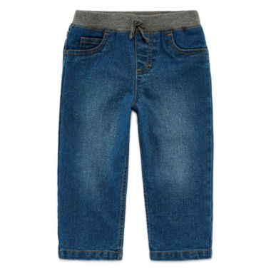 jcpenney.com | Arizona Dark-Wash Ribbed Jeans - Baby Boys 3m-24m