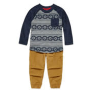Arizona Long-Sleeve Knit Cotton Shirt or Trekking Joggers - Baby Boys 3m-24m