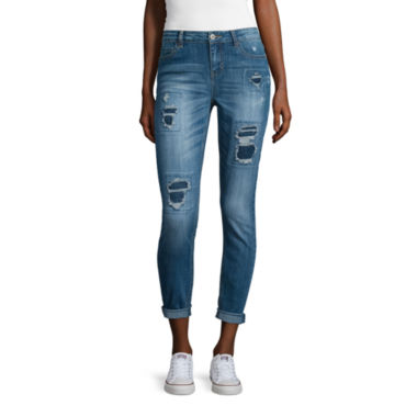 jcpenney.com | Vanilla Star® Destructed Skinny Jeans