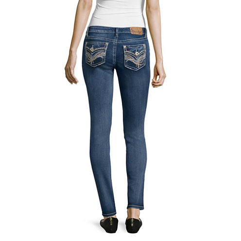 Soundgirl Flap-Pocket Skinny Jeans