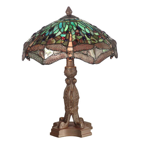 Dale Tiffany™ Meadowlark Dragonfly Table Lamp