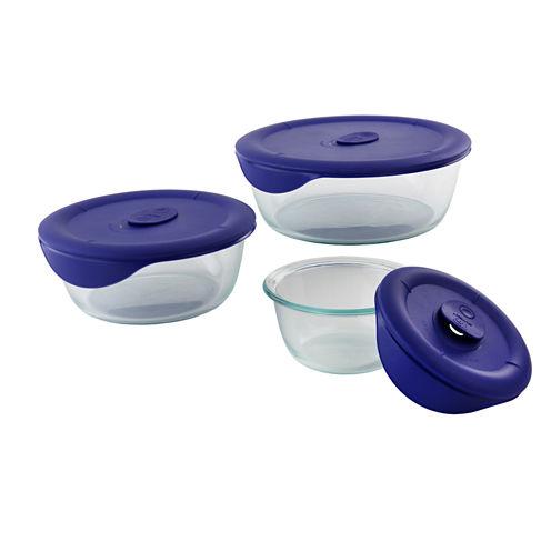 Pyrex® Pro 6-pc. Round Food Storage Set