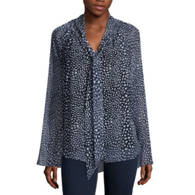 jcpenney.com | Coffee & Cake Bell Sleeve Blouse