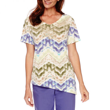 jcpenney.com | Alfred Dunner® Cyprus Short-Sleeve Print Top